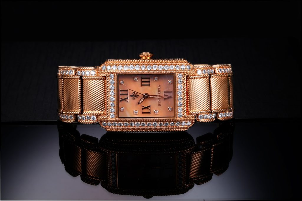 gold watch with diamonds for men