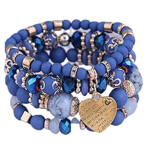 Emyzkc Bohemian Bracelet Sets for Women Stackable Stretch Bracelets Multi-Color Boho Jewelry Set Multicolor Tassel Strand Bracelets Stretch Jewelry