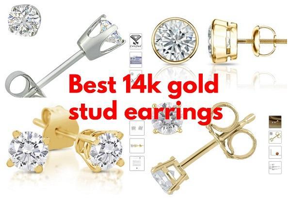 Best 14k gold stud earrings