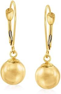 14kt Yellow Gold Bead Drop Earrings